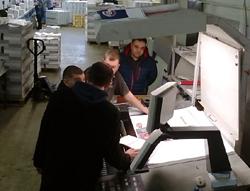 Тестирование глянцевой мелованной бумаги Омела 80 г/м2 в типографии «Форте Пресс»