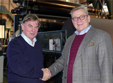 Terje Haglund и Andreas Willeke (Zanders Paper). Фото: Tobias Müller